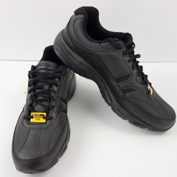 1e5f5967 Fila Memory Foam Slip Resistant Work Safety Shoes NWT